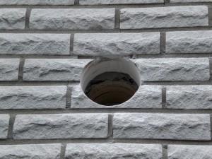 Mauerdurchbruch für Dunstabzug